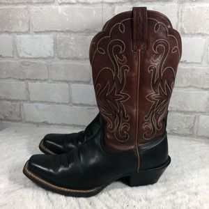 Ariat Shoes - Western Low Heel Leather Boots